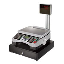 Cash Scale ACS with Display Pole