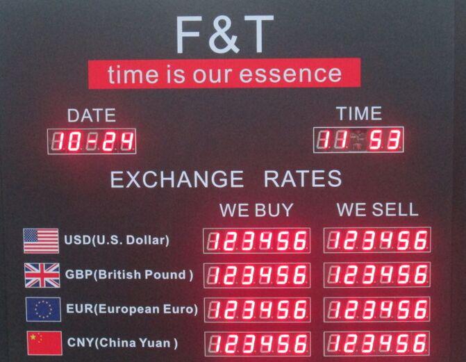 LED Exchange Rate Board R2C4L10D-01