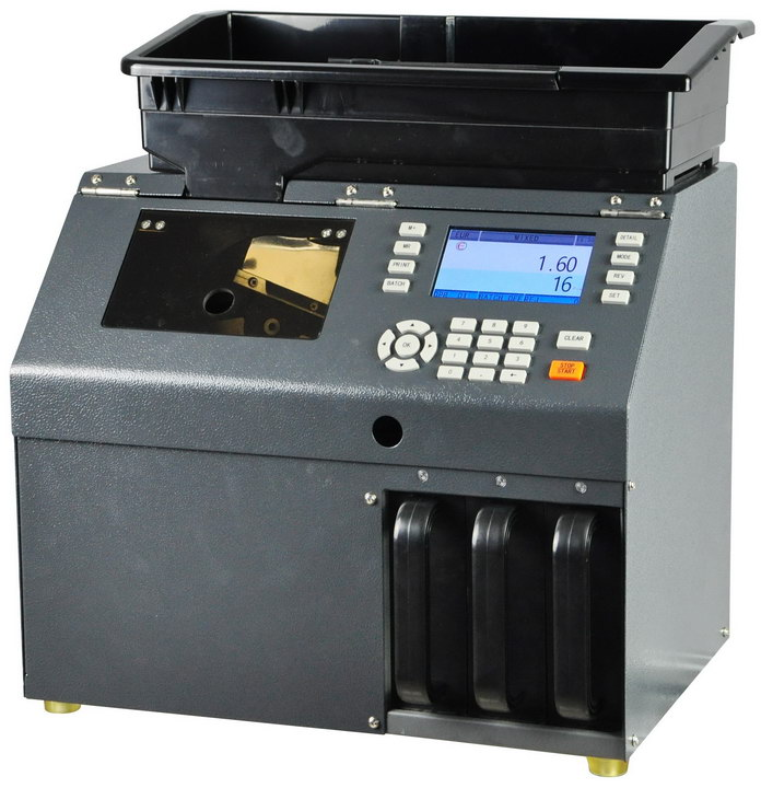 Professional Coin Sorter with Counterfeit Detector L30C